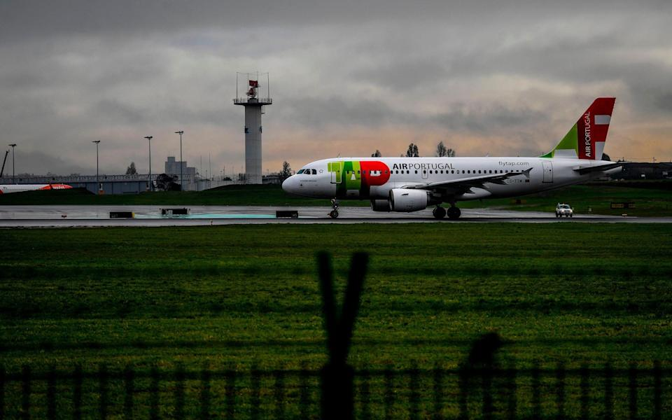 All flights from Portugal have been halted, amid fears of the new Brazilian variant of Covid-19 - Getty