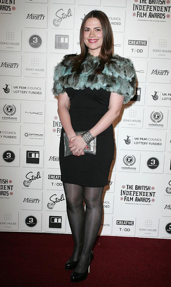 """<a href=""""http://movies.yahoo.com/movie/contributor/1809735942"""">Hayley Atwell</a> at the 2009 British Independent Film Awards in London - 12/06/2009"""
