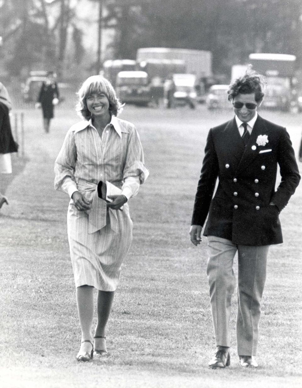Prince Charles pictured with his girlfriend Davina Sheffield in 1979Rex Features