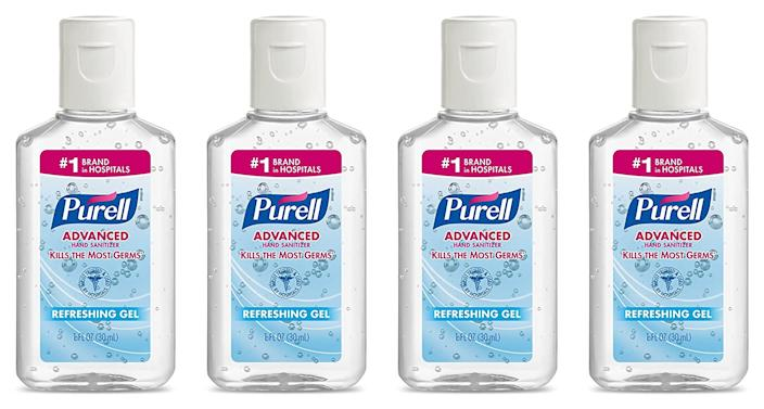 Purell Advanced Hand Sanitizer Gel 1 OZ Travel Size (4 Pack) (Photo: Amazon)