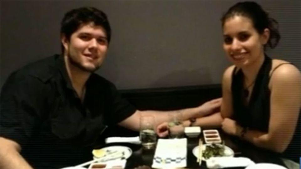 Alberto Paulon with his fiancee, Christina. Mr Paulo died in a cycling accident in February.