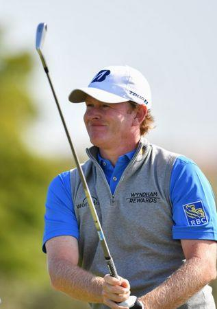 Jul 18, 2017; Southport, Merseyside, ENG; Brandt Snedeker  during a practice round of The 146th Open Championship golf tournament at Royal Birkdale Golf Club. Mandatory Credit: Steve Flynn-USA TODAY Sports