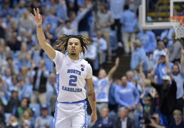"<a class=""link rapid-noclick-resp"" href=""/ncaab/players/153905/"" data-ylk=""slk:Cole Anthony"">Cole Anthony</a> lived up to the hype that had him on preseason All-America lists in his UNC debut. (Grant Halverson/Getty)"