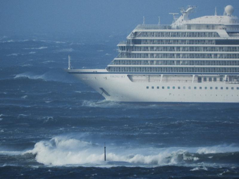 The area where the ship lost power, known as Hustadvika, is notoriously difficult to navigate