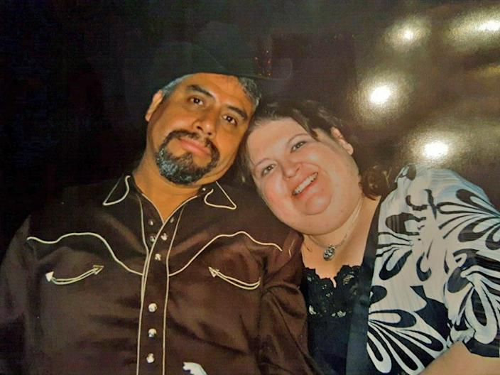 Leonor Quiroz and her late husband Valentin Quiroz, 52, who died of COVID-19 in May. (Courtesy Leonor Quiroz)