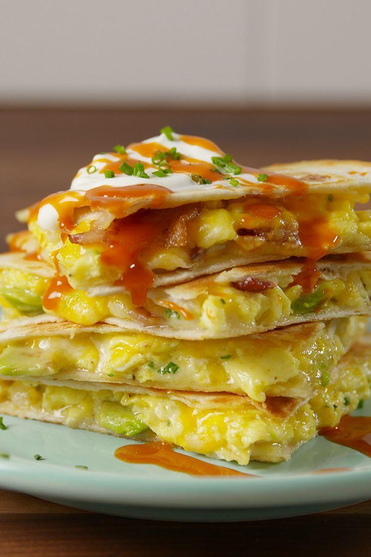 """<p>For those times when a breakfast taco just won't cut it.</p><p>Get the recipe from <a href=""""/cooking/recipe-ideas/recipes/a51068/loaded-breakfast-quesadillas-recipe/"""" data-ylk=""""slk:Delish"""" class=""""link rapid-noclick-resp"""">Delish</a>.</p>"""