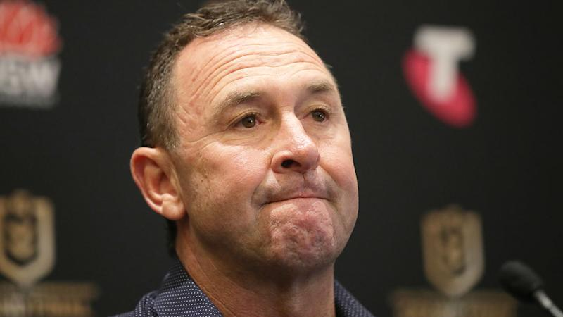 Pictured here, Raiders coach Ricky Stuart at an NRL press conference.