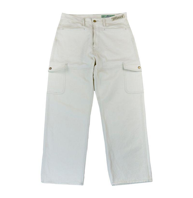 "<p><strong>Darryl Brown</strong></p><p>darrylbrown.com</p><p><strong>$190.00</strong></p><p><a href=""https://darrylbrown.com/collections/shop/products/db-cargo-workpants-white?variant=28636024963165"" rel=""nofollow noopener"" target=""_blank"" data-ylk=""slk:Buy"" class=""link rapid-noclick-resp"">Buy</a></p><p>A super-sturdy pair of cargos is an easy way to wear the color without having to worry about the day-to-day spillage you might with a more vulnerable white tee. Wear 'em with a solid-colored top for as long as you can.</p>"