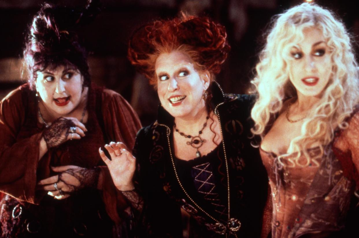 Kathy Najimy, Bette Midler and Sarah Jessica Parker in the 1993 Halloween favorite, 'Hocus Pocus' (Photo: Buena Vista Pictures/Courtesy Everett Collection)