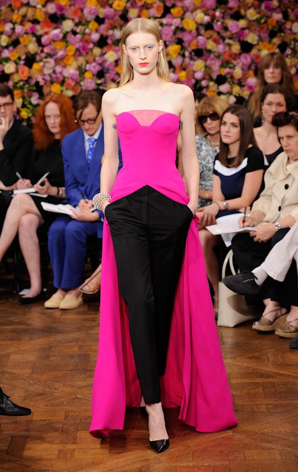 FWD203 Model walks the runway at the Christian Dior Fall 2012 haute couture show in Paris on Monday, July 2, 2012. (Fashion Wire Daily/Gruber)