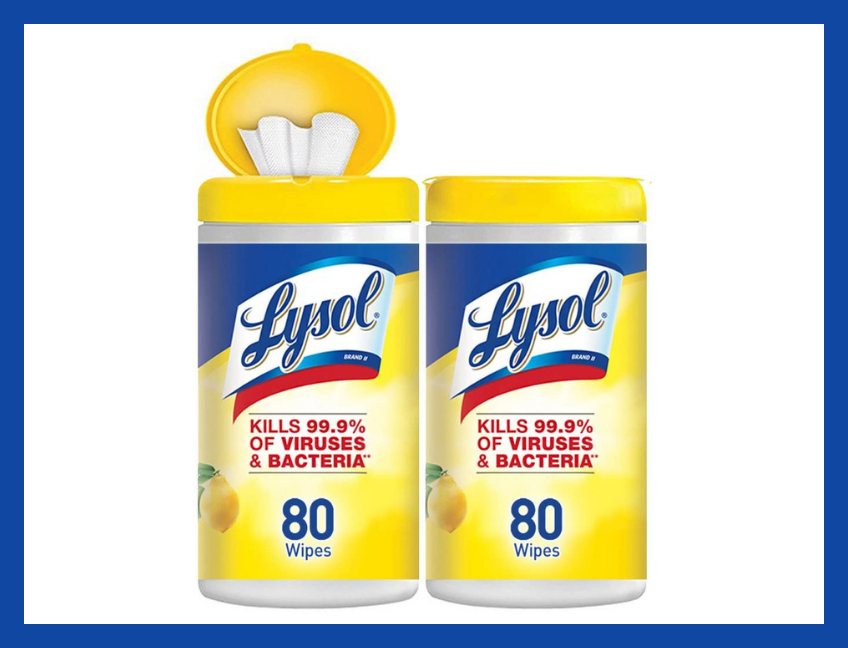 Lysol Disinfecting Wipes, Lemon & Lime Blossom, 160-count (two-pack). (Photo: Amazon)
