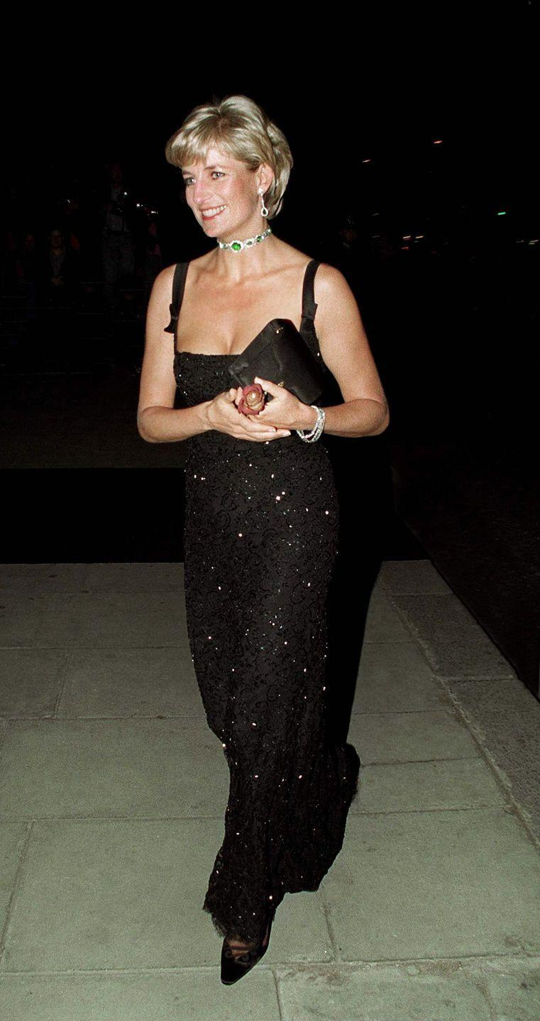 <p>The Princess celebrated her 36th birthday in a stunning black gown designed by Jacques Azagury with an emerald and diamond necklace.</p>