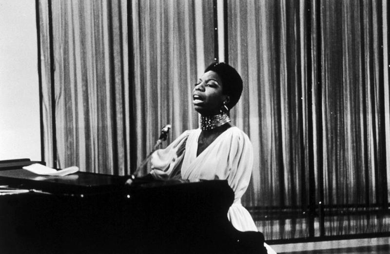 Nina Simone appearing on the David Frost TV show, London, 1968. | Michael Putland—Getty Images
