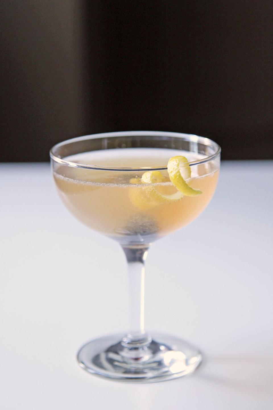 """<p>Indiana is all about French 75s, and we're here for it! This honey-sweet twist on the classic cocktail is doubled up on ingredients (save for the sparkling wine and garnishes), making for a slightly less effervescent but flavor-packed spin on an old favorite.</p> <p><strong>Get the recipe</strong>: <a href=""""https://www.popsugar.com/food/French-75-Honey-26456279"""" class=""""link rapid-noclick-resp"""" rel=""""nofollow noopener"""" target=""""_blank"""" data-ylk=""""slk:honeyed French 75"""">honeyed French 75</a></p>"""