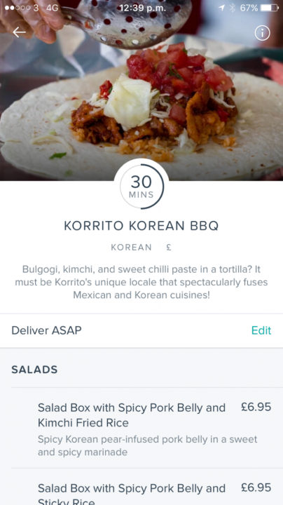 What it's like to order restaurant food with Deliveroo's app