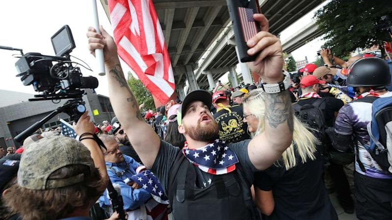 13 arrested, 6 injured at Portland right-wing rally: Police