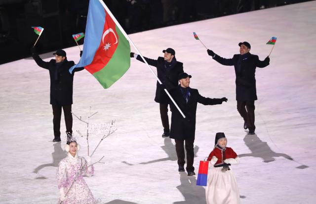 <p>Gold:$248,000 USD<br>Silver:$124,000 USD<br>Bronze:$62,000 USD<br>Patrick Brachner is Azerbaijan's 2018 Olympic flag bearer and competes in alpine skiing.<br>(REUTERS/Kim Kyung-Hoon) </p>