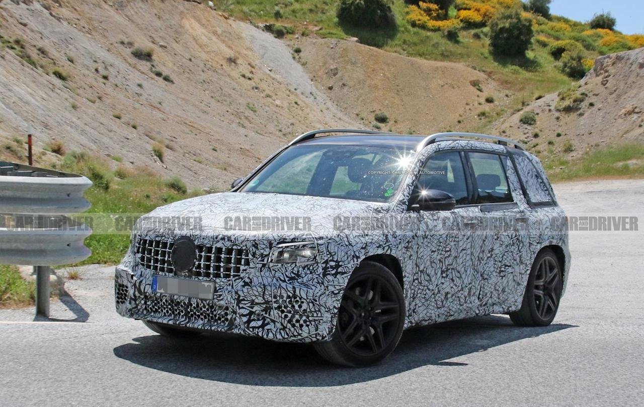 Photos of the 2020 Mercedes-AMG GLB45 Prototype