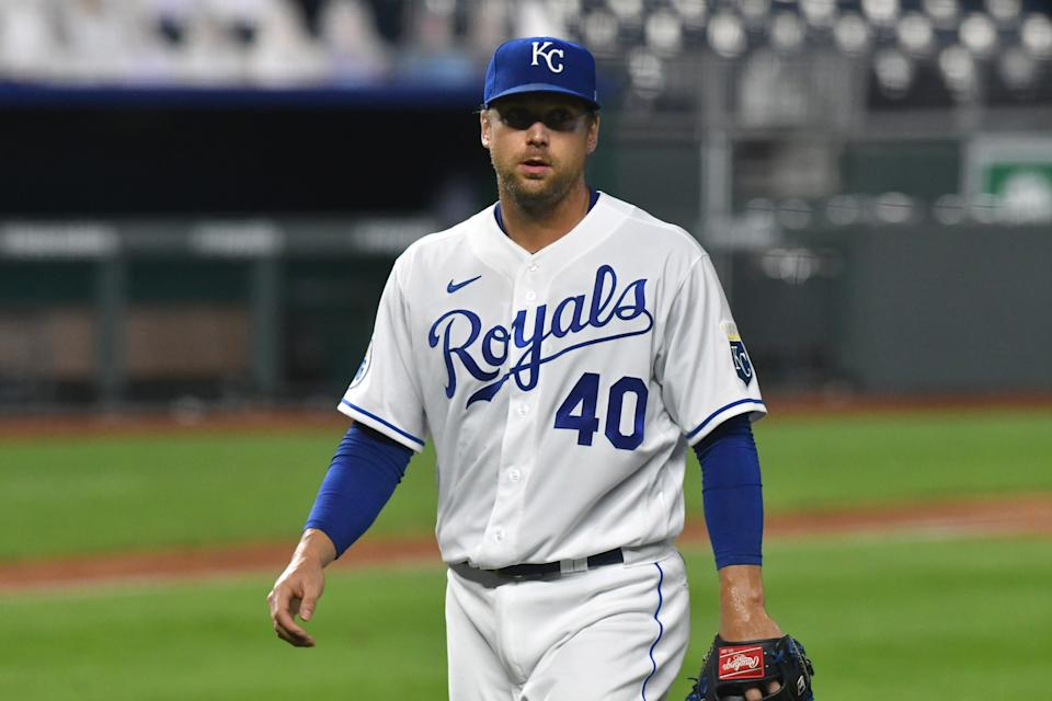 The Kansas City Royals traded veteran reliever Trevor Rosenthal to the San Diego Padres. (Photo by Keith Gillett/Icon Sportswire via Getty Images)