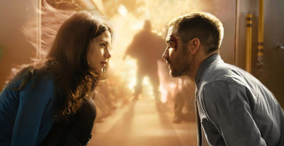 Michelle Monaghan and Jake Gyllenhaal in a still from Source Code (Studiocanal)