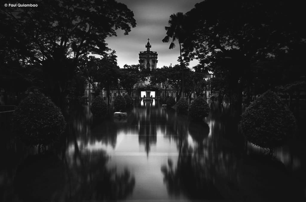 The UST Main building: Beauty in darkness.   Photo by Paul Quiambao. Used with permission.