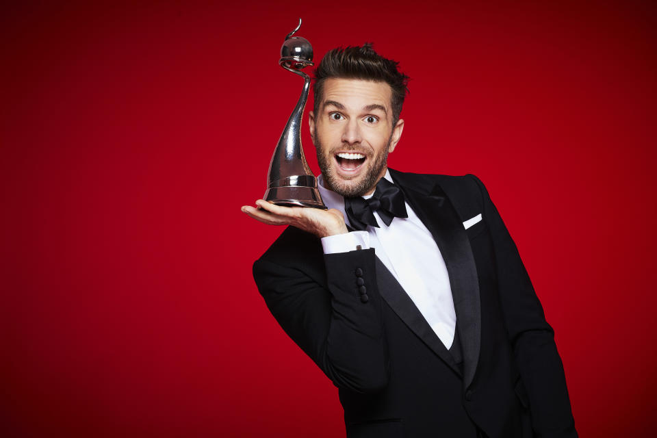 From Indigo TelevisionThe National Television Awards 2021 on ITV and ITV HubPictured: Joel Dommett.This photograph is (C) Indigo Television and can only be reproduced for editorial purposes directly in connection with the programme or event mentioned above, or ITV plc. Once made available by ITV plc Picture Desk, this photograph can be reproduced once only up until the transmission [TX] date and no reproduction fee will be charged. Any subsequent usage may incur a fee. This photograph must not be manipulated [excluding basic cropping] in a manner which alters the visual appearance of the person photographed deemed detrimental or inappropriate by ITV plc Picture Desk.  This photograph must not be syndicated to any other company, publication or website, or permanently archived, without the express written permission of ITV Picture Desk. Full Terms and conditions are available on the website www.itv.com/presscentre/itvpictures/termsFor further information please contact:james.hilder@itv.com / 0207 157 3052