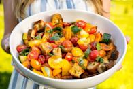 """<p>The flavors here are so bright and beautiful.</p><p>Get the recipe from <a href=""""https://www.delish.com/cooking/recipe-ideas/recipes/a47246/summer-panzanella-recipe/"""" rel=""""nofollow noopener"""" target=""""_blank"""" data-ylk=""""slk:Delish"""" class=""""link rapid-noclick-resp"""">Delish</a>.</p>"""
