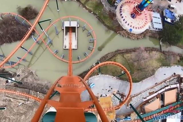 Canada's Wonderland posts video of terrifying dip at new record-breaking coaster