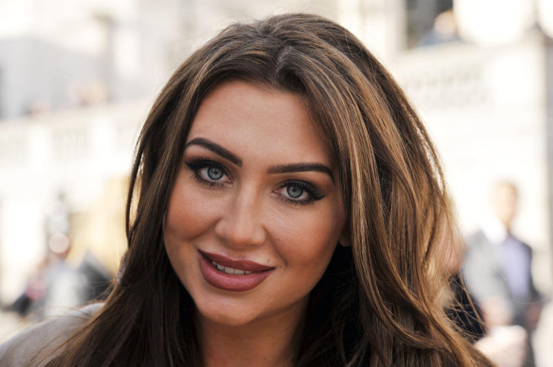 Lauren Goodger, during a photocall for Comic Relief, in Trafalgar Square, London, to raise awareness of the charity in the run-up to Red Nose Day, on Friday March 13th.