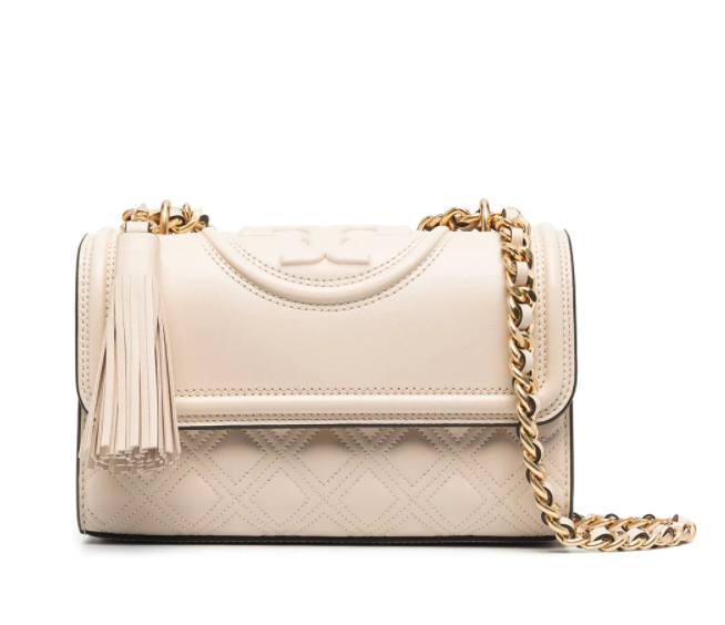 Tory Burch embossed and quilted cross-body bag