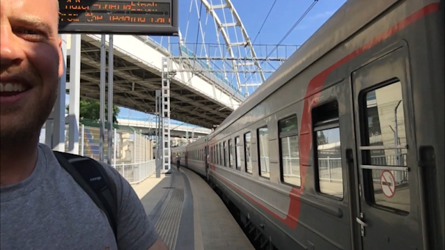 Reporter Pete Hall has been getting used to life on the rails