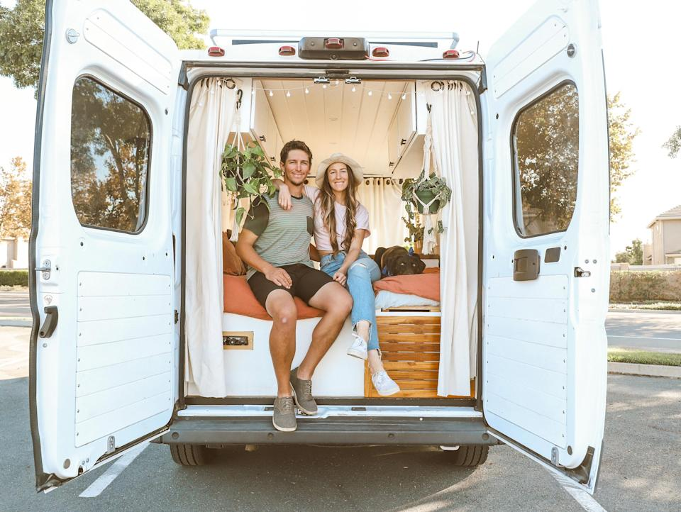 After losing their jobs in the pandemic, Courtnie Hamel and Nate Cotton decided to try something completely new: living out of a van.