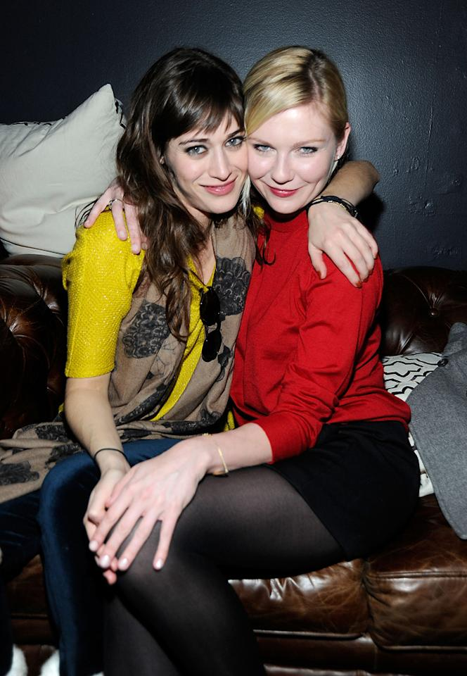Lizzy Caplan and Kirsten Dunst are seen out and about during the 2012 Sundance Film Festival in Park City, Utah on January 22, 2012.