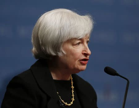 U.S. Federal Reserve Chair Yellen delivers remarks at the inaugural Michel Camdessus Central Banking Lecture at the International Monetary Fund in Washington