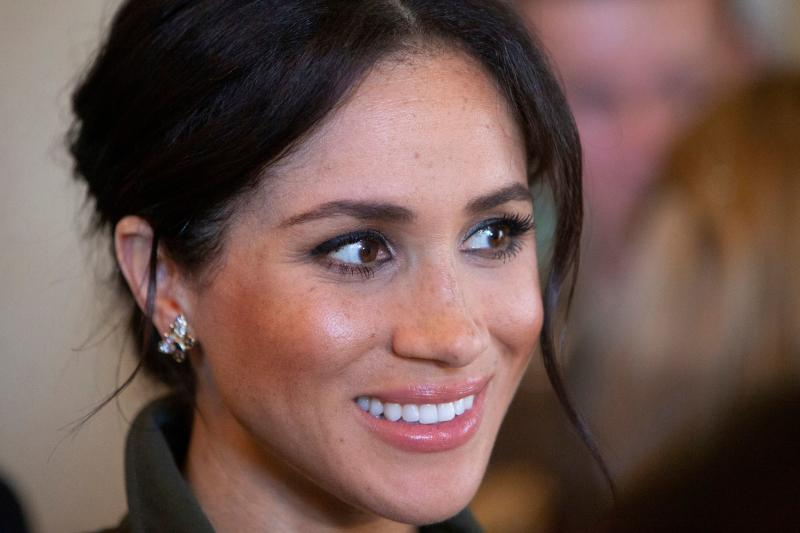 The Duchess of Sussex wore a pair of butterfly earrings once owned by Princess Diana on the royal tour of Australia [Photo: Getty]