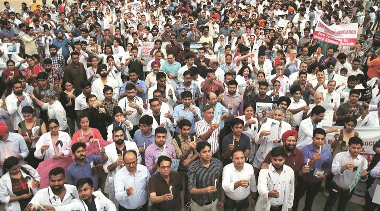 Chandigarh, Chandigarh news, Chandigarh doctors strike, doctors strike, doctors protest, West Bengal doctors strike, Bengal doctor strike, The Association of Resident Doctors, Indian Medical Association, Indian Express news, Latest news.
