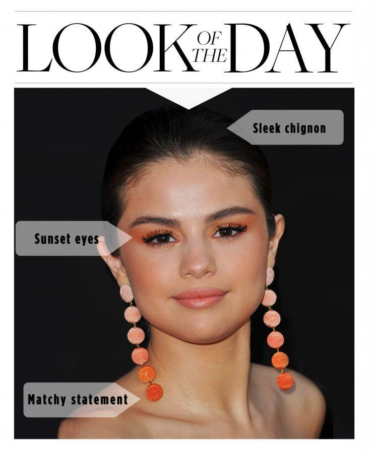 Selena Gomez wore the perfect spring beauty look. (Photo: Getty)
