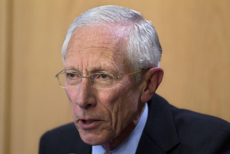 Bank of Israel governor Stanley Fischer, speaks during a press conference in Jerusalem, Wednesday, Jan. 30, 2013. Fischer is resigning from his post in June, after being credited with maintaining the country's economic stability while the financial crisis pummeled countries around the world. Fischer's departure comes two years before the end of his second five-year term. (AP Photo/Sebastian Scheiner)