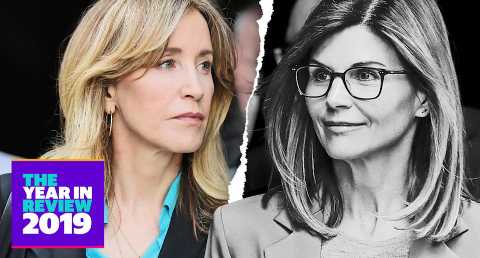 Felicity Huffman, left, and Lori Loughlin became the famous faces of the college admissions scandal. (Photos: Getty Images)