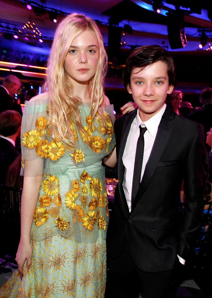 "<a href=""http://movies.yahoo.com/movie/contributor/1808461888"">Elle Fanning</a> and <a href=""http://movies.yahoo.com/movie/contributor/1810057646"">Asa Butterfield</a> at the 17th Annual Critics' Choice Awards reception in Hollywood on January 12, 2012."