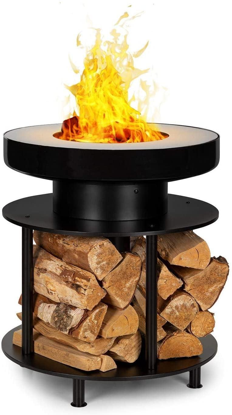 <p>Add a modern touch to your backyard with this <span>blumfeldt Wood Stock 2-in-1 Ring of Fire Bowl &amp; BBQ Grill</span> ($150). You can enjoy a nice fire or even grill up your favorites foods right in front of you. It even has room for wood storage.</p>
