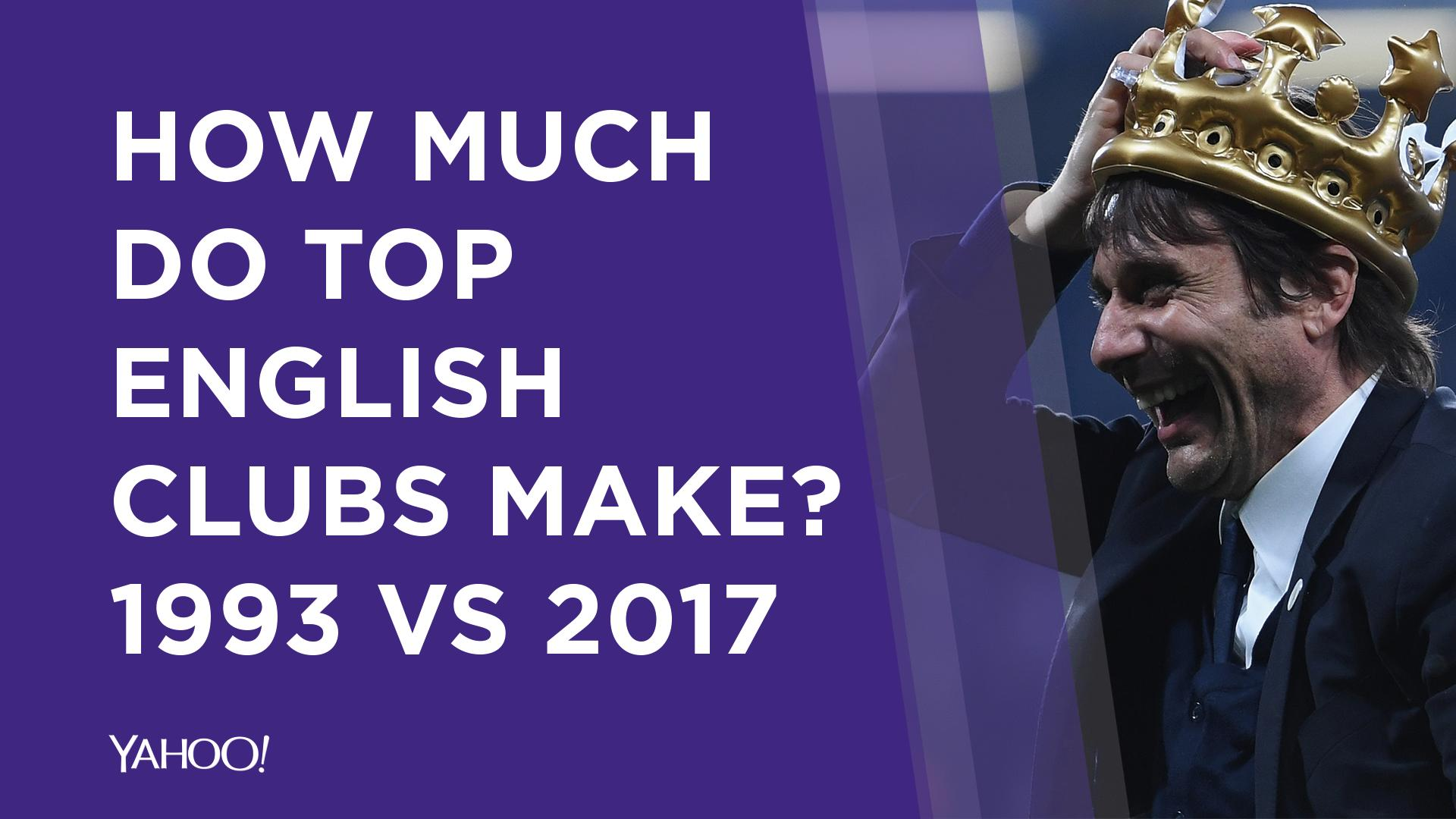 How Much Money Do Top English Clubs Make 1993 Vs 2017 Video