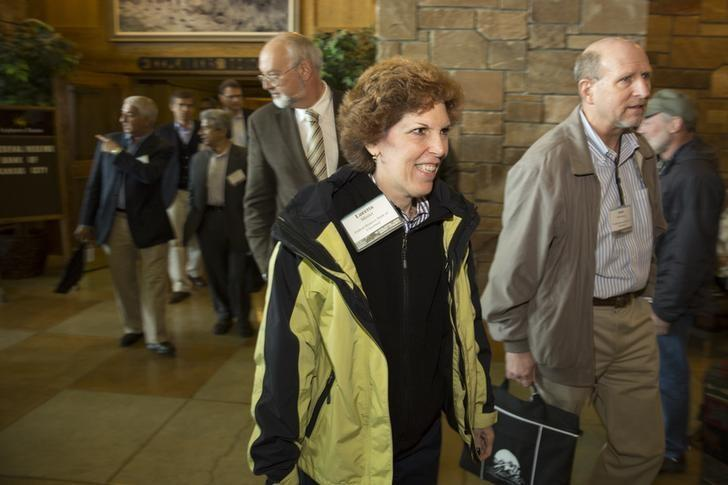 Mester, president of the Federal Reserve Bank of Cleveland, attends the Jackson Hole Economic Policy Symposium in Jackson Hole