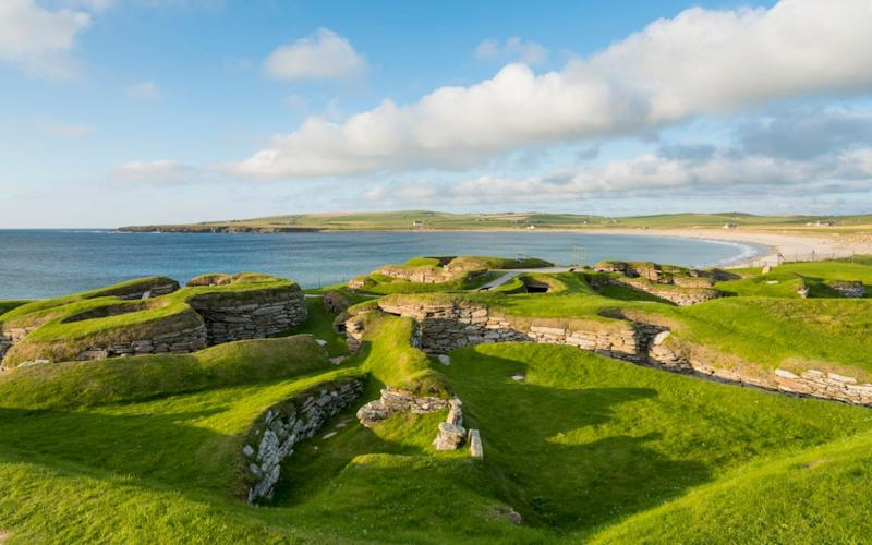 Skara Brae, part of the Heart of Neolithic Orkney world heritage site by the Bay of Skaill, Orkney. Cost Indicator No Cost - VisitScotland/VisitScotland