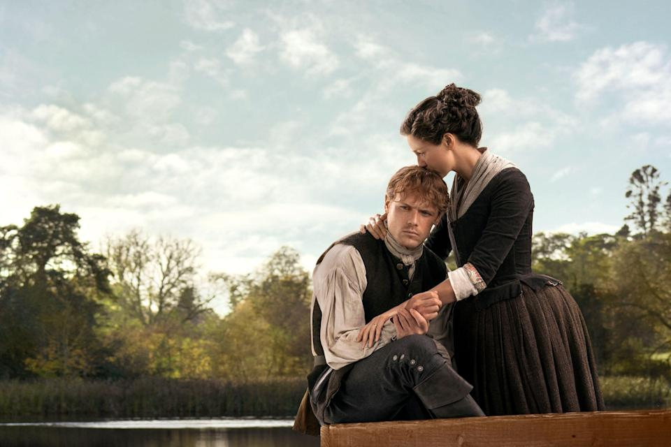 """<p><a href=""""https://www.marieclaire.com/culture/a20645755/outlander-season-five-facts/"""" rel=""""nofollow noopener"""" target=""""_blank"""" data-ylk=""""slk:Season 5 of Outlander"""" class=""""link rapid-noclick-resp"""">Season 5 of <em>Outlander</em></a> is on its way (!) after a year off the air, and, like Jamie and Claire Fraser, our love for the drama stands the test of time. We took a deep-dive into the making of <em>Outlander—</em>ahead are the 60 craziest facts you never knew about the show.</p>"""