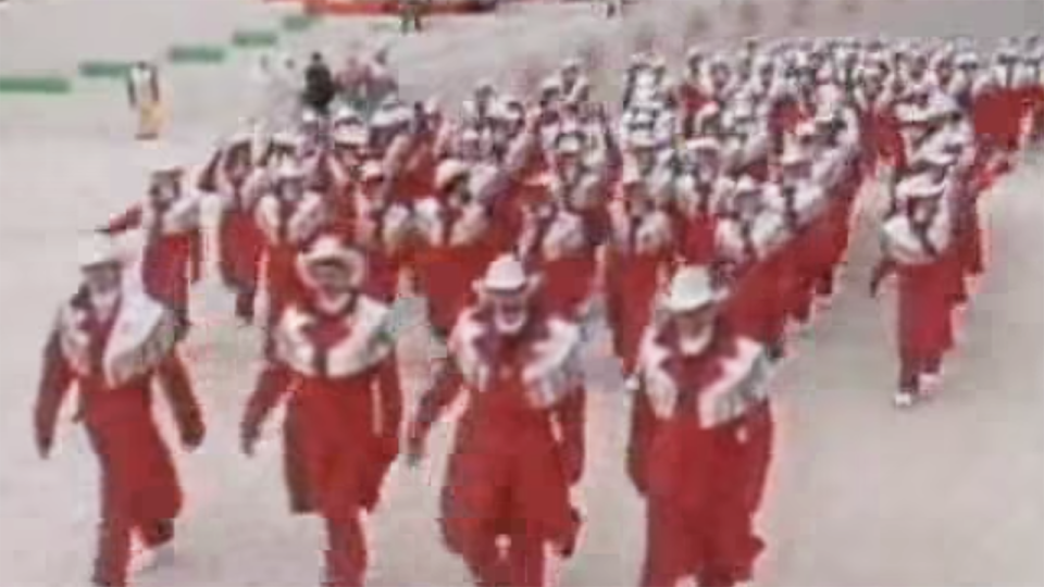 Canadian Olympic team at Calgary Winter Olympics in 1988