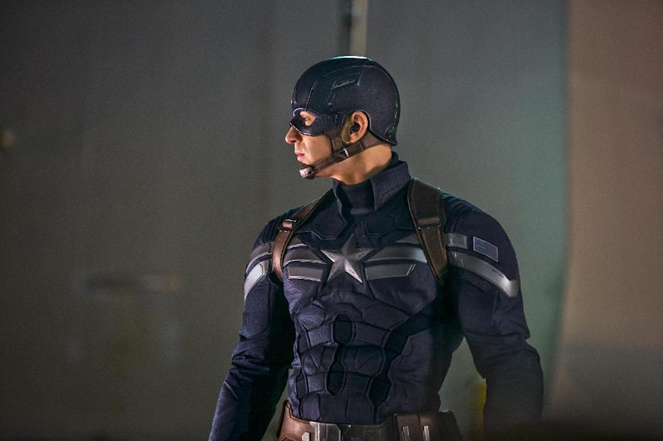 """This image released by Marvel shows Chris Evans in a scene from """"Captain America: The Winter Soldier."""" (AP Photo/Marvel-Disney, Zade Rosenthal)"""