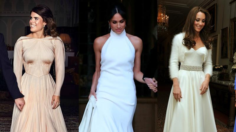 How Princess Eugenie's Wedding Reception Dress Compares to Kate Middleton and Meghan Markle's