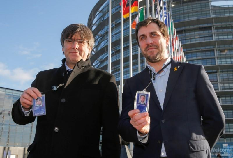 Catalan separatists take seats as EU lawmakers, promise to push secession