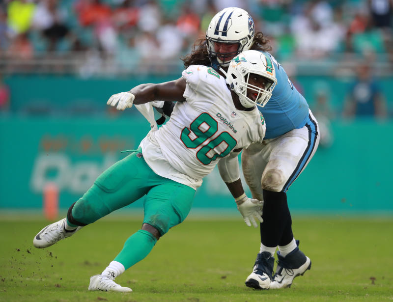 Miami 's Charles Harris is an exception to the Dolphins' prototype. (AP)